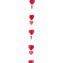 Balloon Tails - Red & White Hearts Balloon Tail (1.2m) 1pc